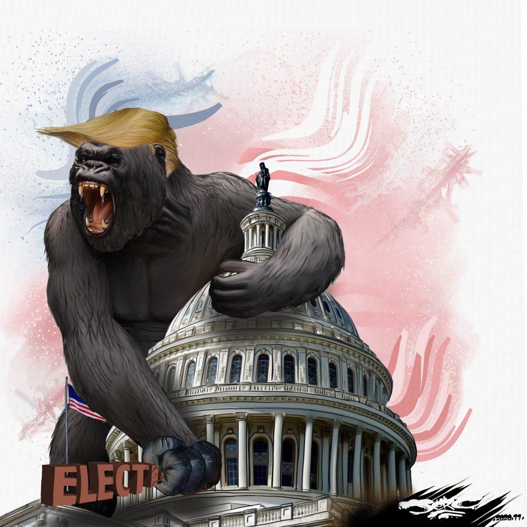 dessin presse humour Donald Trump États-Unis image drôle King Kong