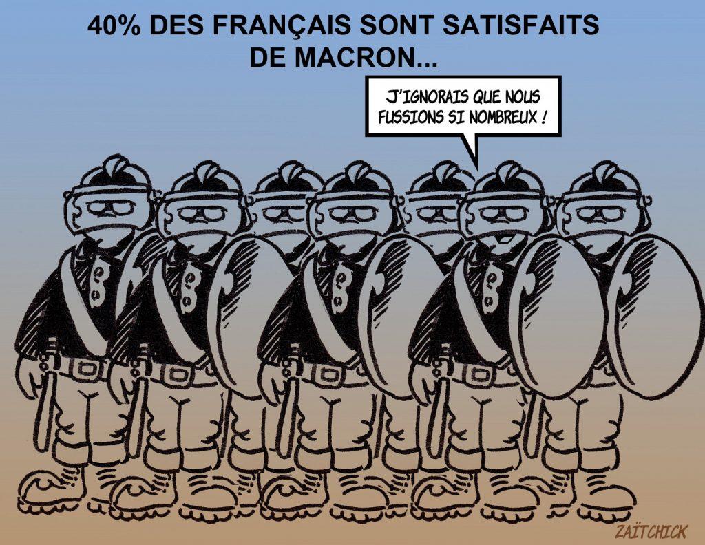 dessin presse humour loi sécurité globale image drôle sondage Emmanuel Macron