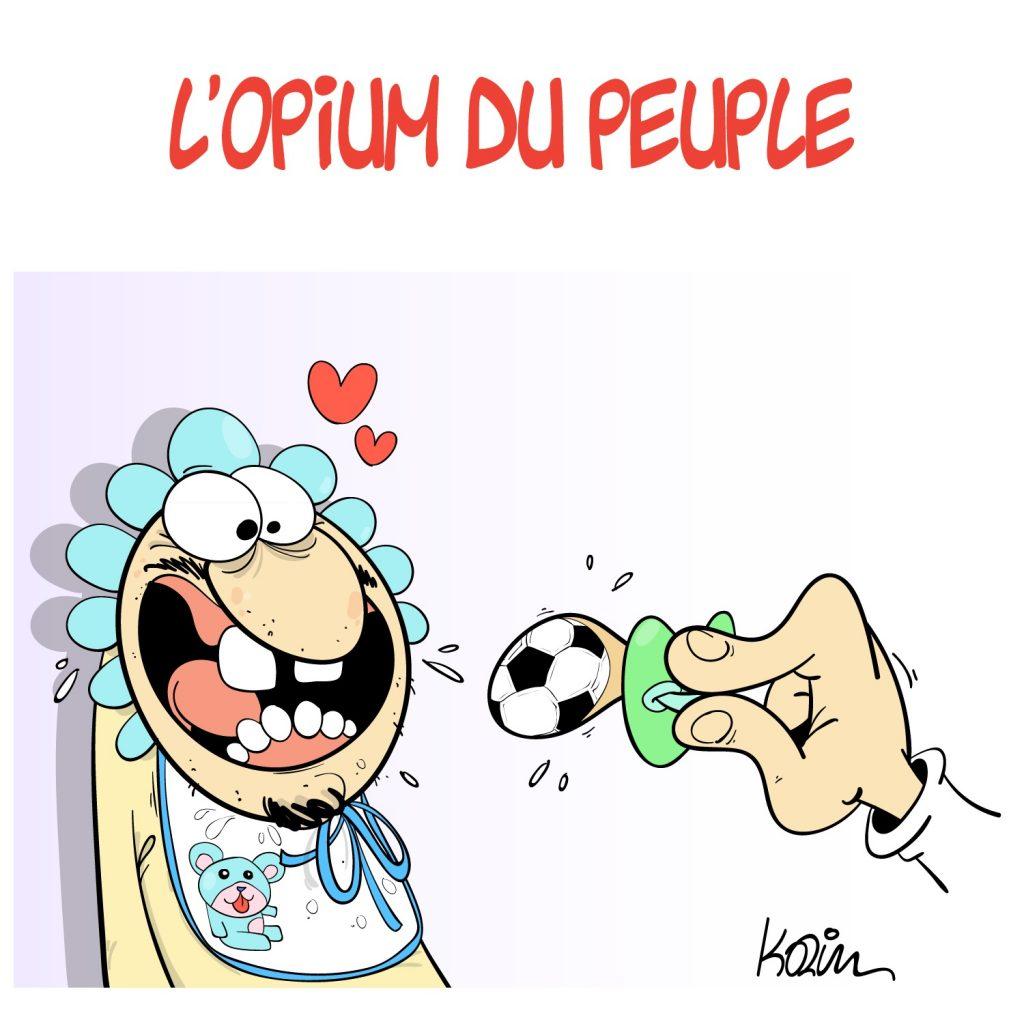 dessin presse humour foot football image drôle opium peuple
