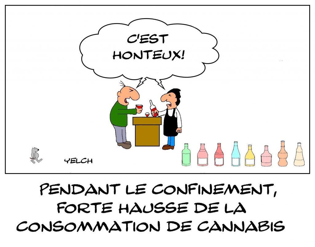 dessins humour confinement cannabis image drôle coronavirus alcool