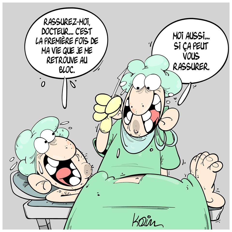 dessin presse humour chirurgien médecin image drôle peur opération chirurgicale