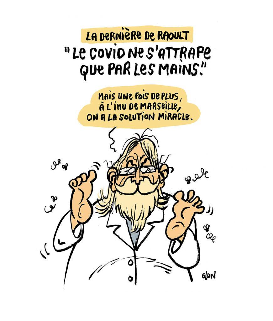 dessin presse humour Didier Raoult image drôle coronavirus covid19 IHU Marseille