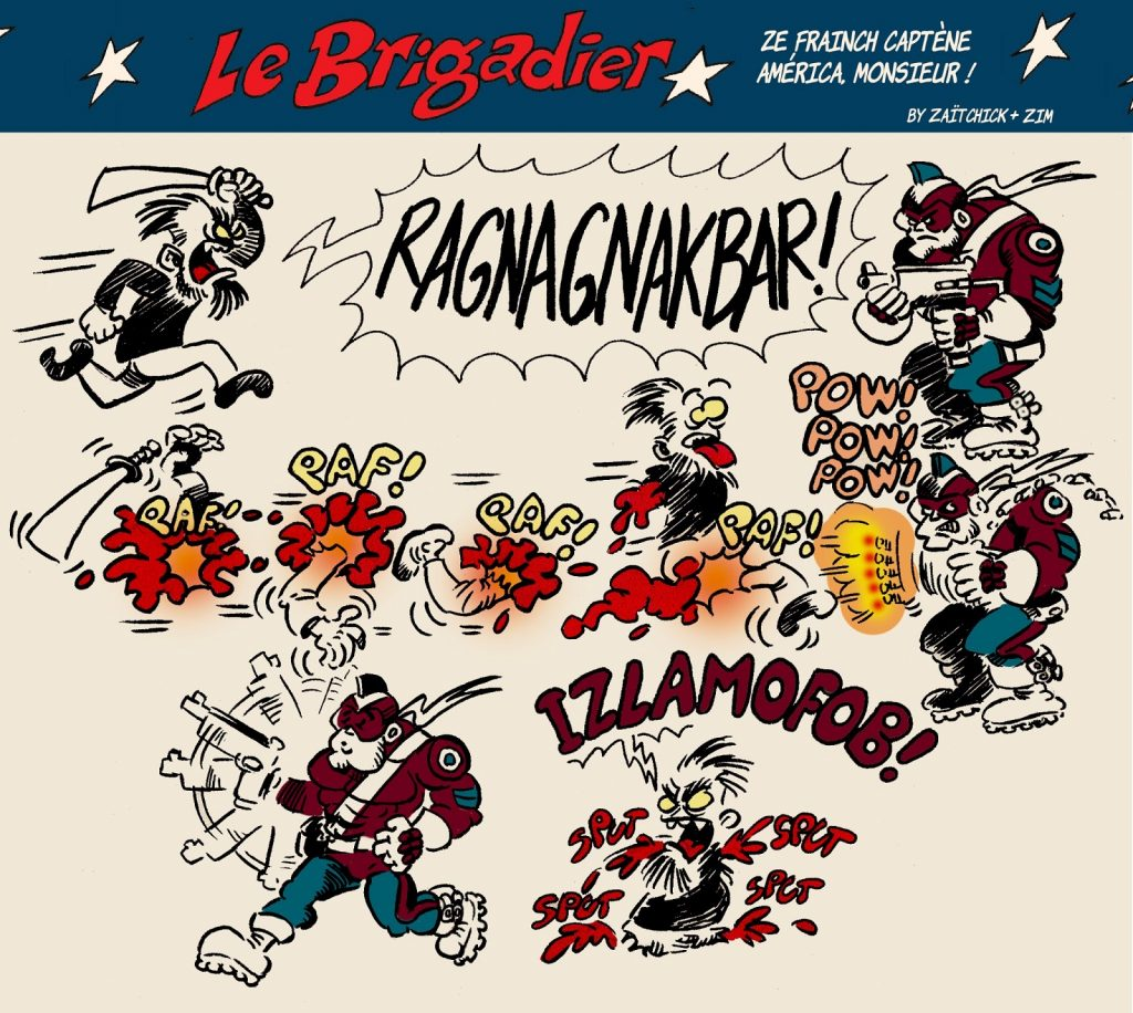 image drôle Le Brigadier dessin humour islamisme radicalisation islamophobie