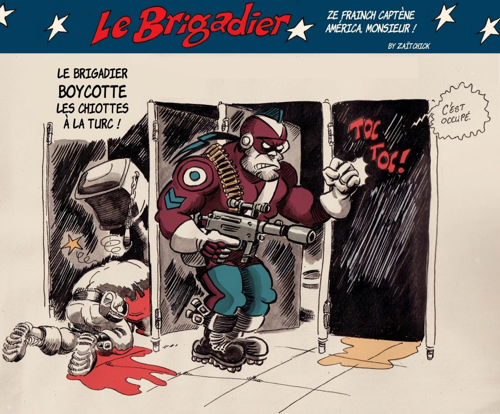 image drôle Le Brigadier dessin humour islamisme boycott chiottes turcs