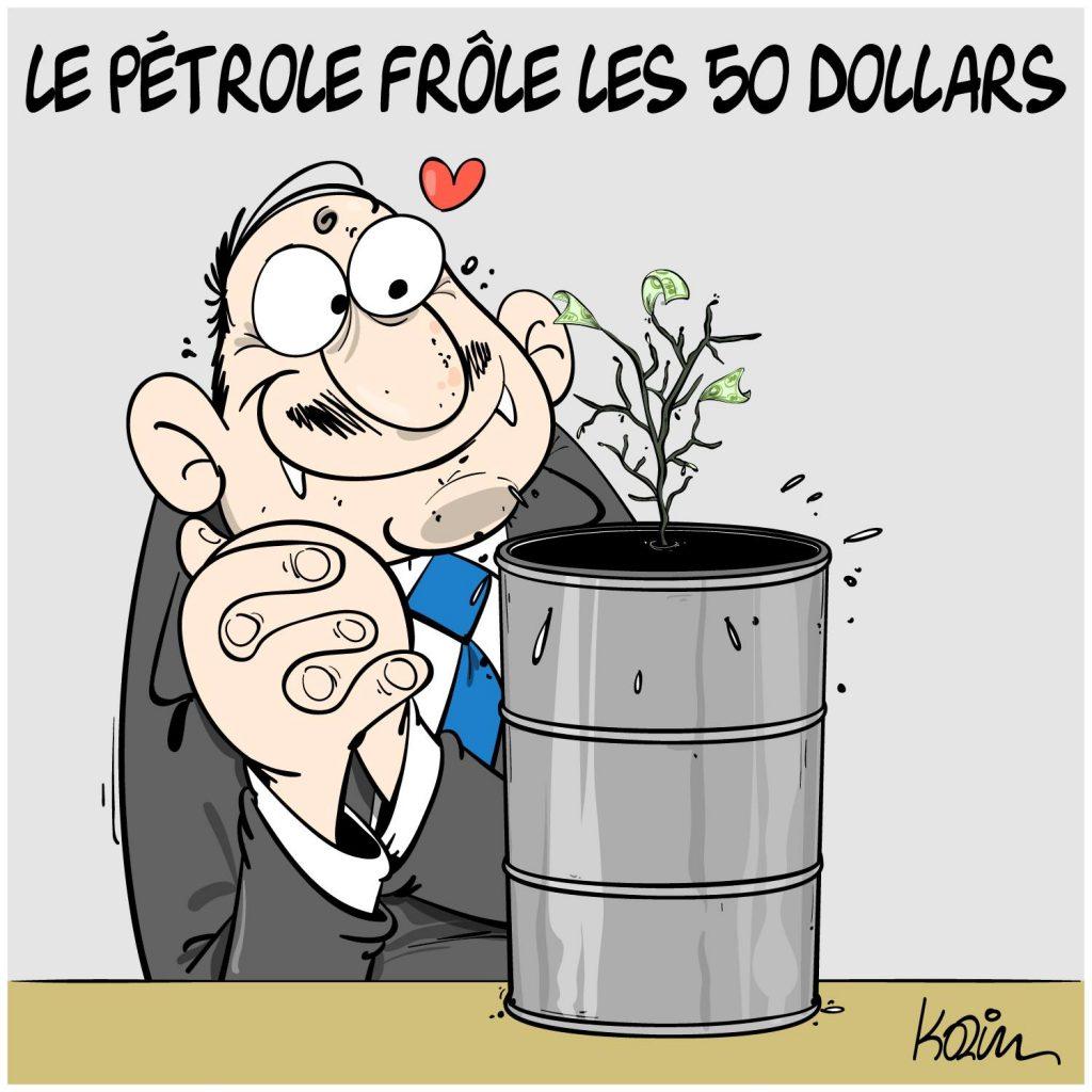 dessin presse humour coronavirus covid-19 image drôle prix du pétrole