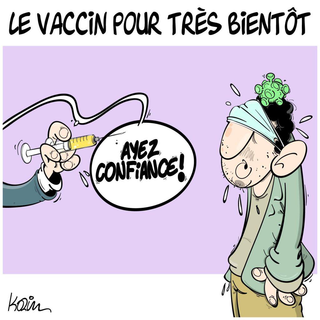 dessin presse humour coronavirus covid-19 image drôle vaccin confiance