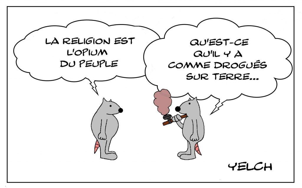 dessins humour religion drogue image drôle opium peuple