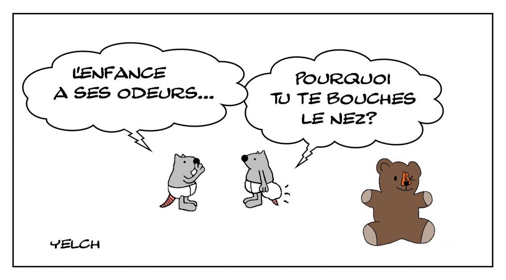dessins humour enfance bébé image drôle odeur caca