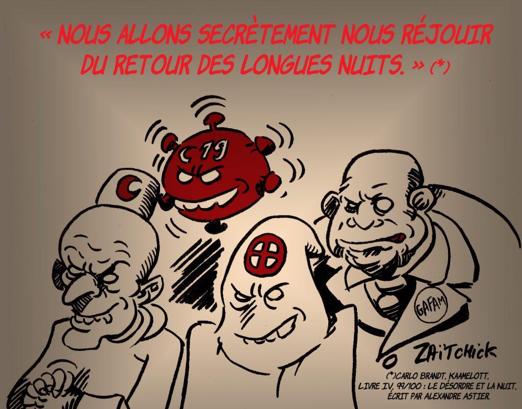 dessin presse humour islamisme fascisme image drôle coronavirus Gafam Kaamelott