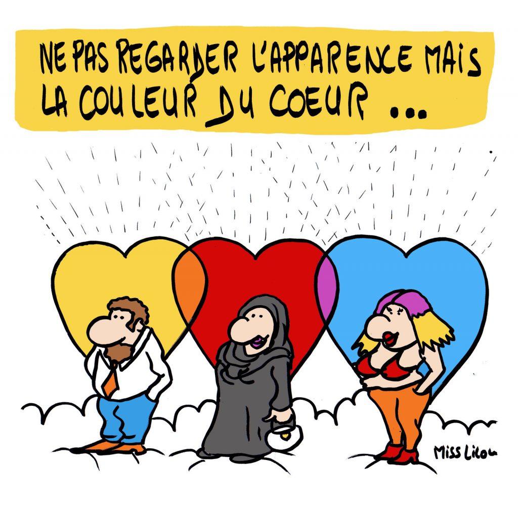 dessin presse humour apparence image drôle couleur cœur