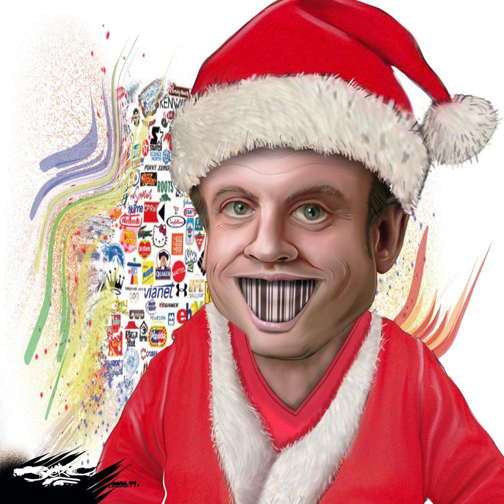 dessin presse humour coronavirus déconfinement image drôle Emmanuel Macron Père Noël