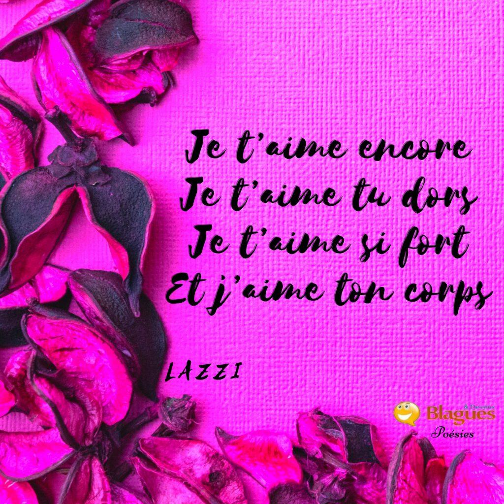 poésie poème Lazzi amour force corps