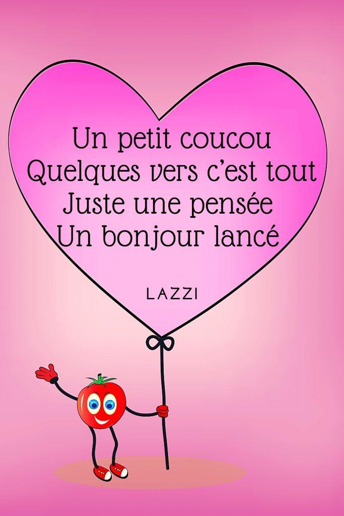 poésie poème Lazzi coucou bonjour vers pensée