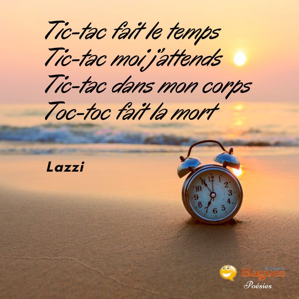 poésie poème Lazzi temps attente corps mort