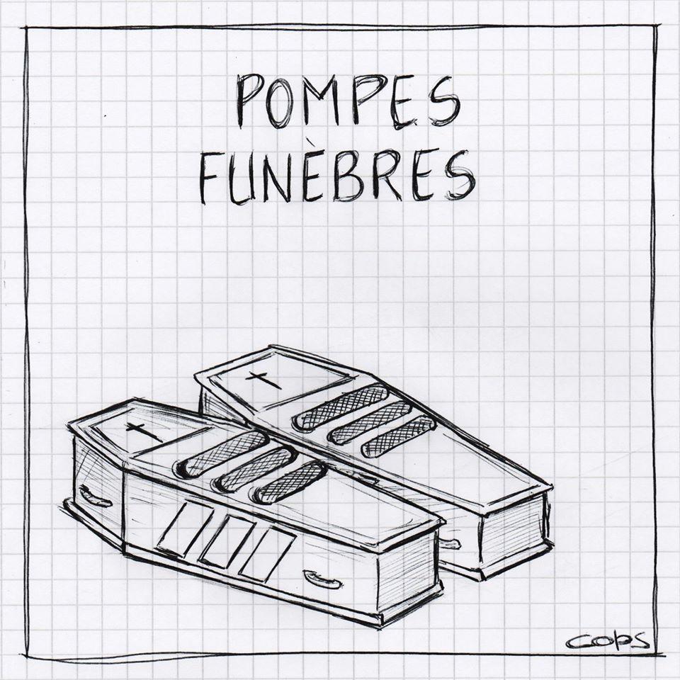 gag image drôle chaussures cercueils dessin blague humour pompes funèbres
