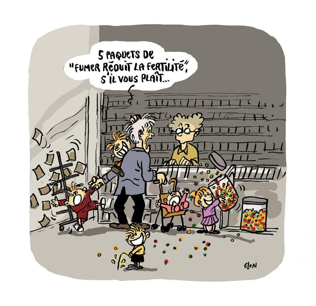 dessin presse humour confinement coronavirus image drôle produit essentiel tabagisme
