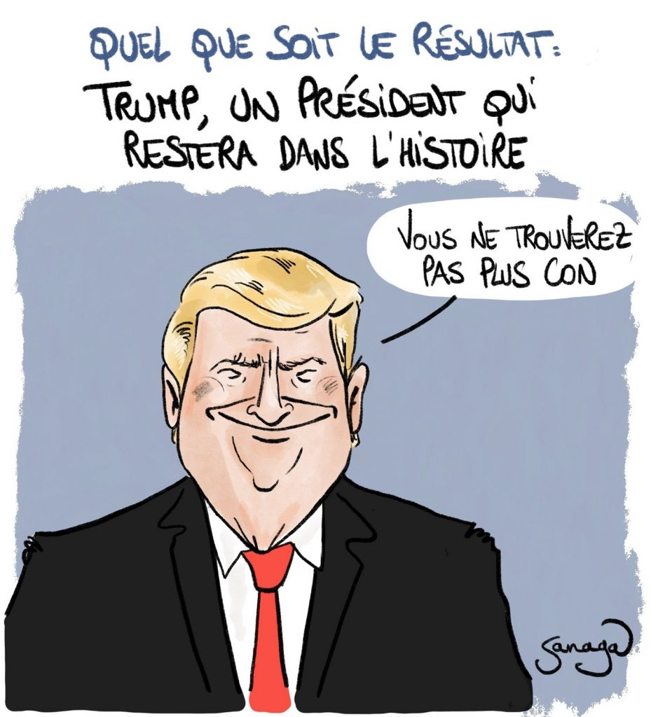 dessin presse humour Donald Trump image drôle élections États-Unis