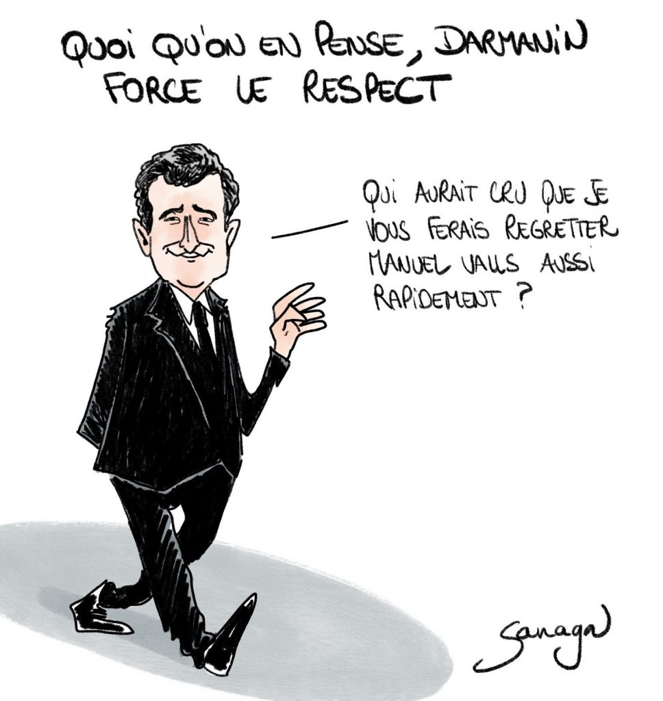 dessin presse humour Gérald Darmanin violences policières image drôle Manuel Valls