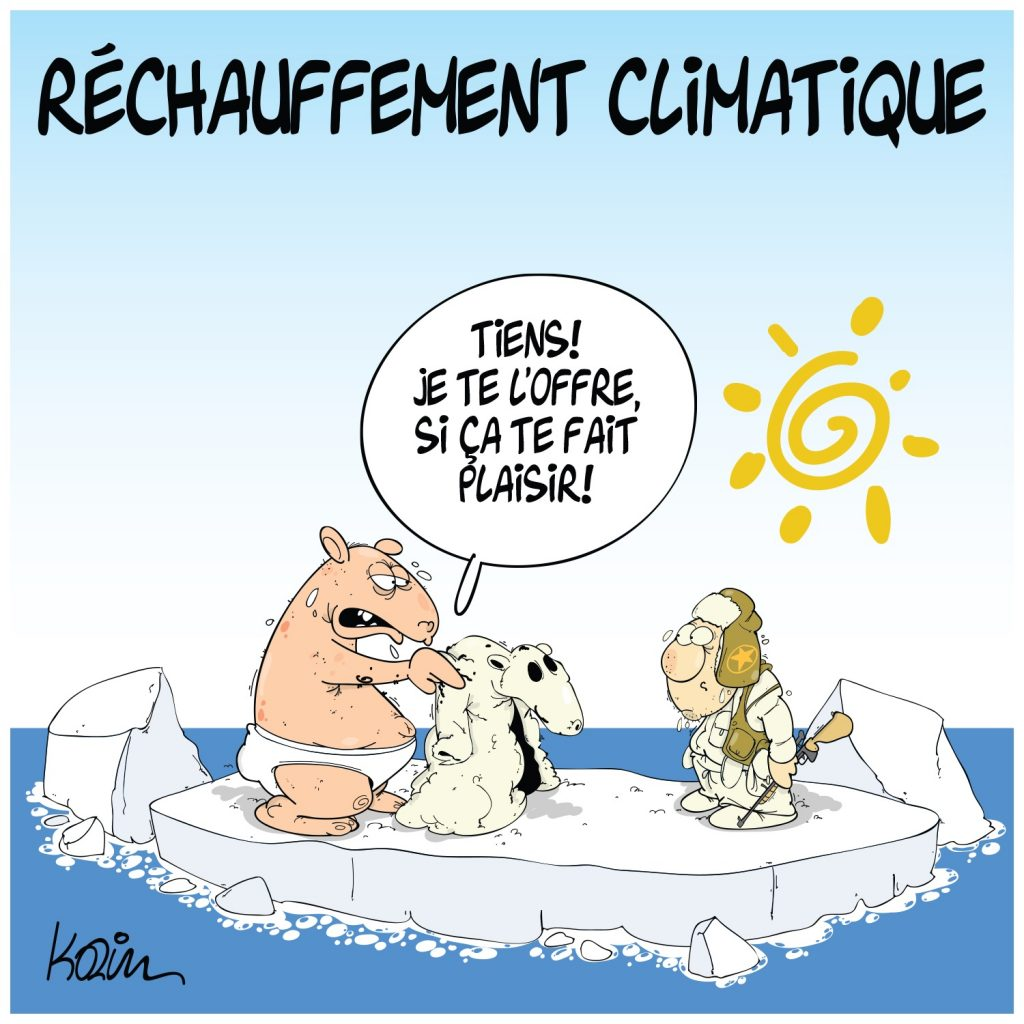 dessin presse humour réchauffement climatique image drôle ours polaire