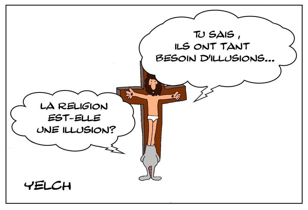 dessins humour religion illusion image drôle Jésus-Christ