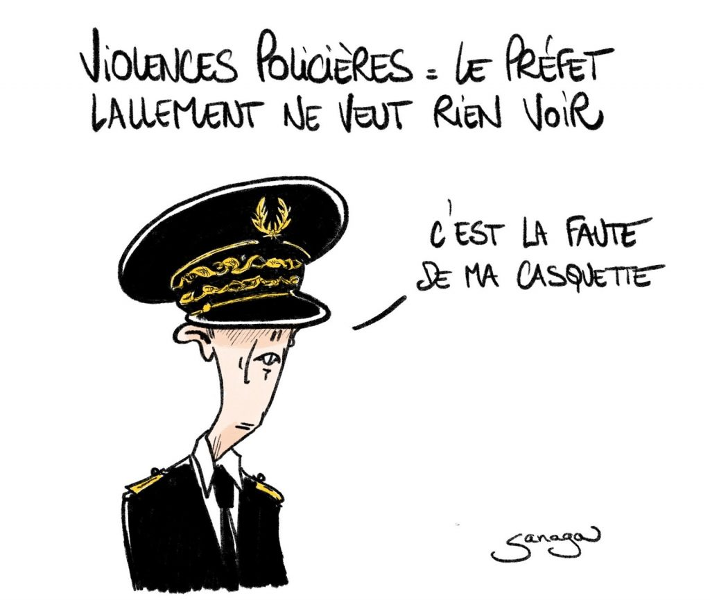 dessin presse humour Didier Lallement image drôle violences policières