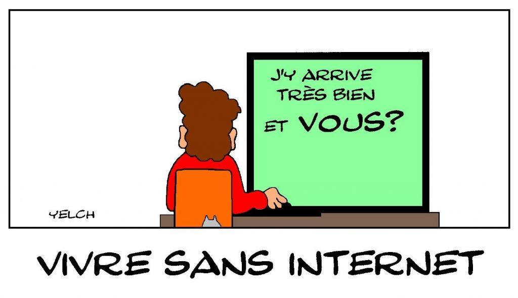 dessins humour Internet Réseaux sociaux image drôle addiction informatique