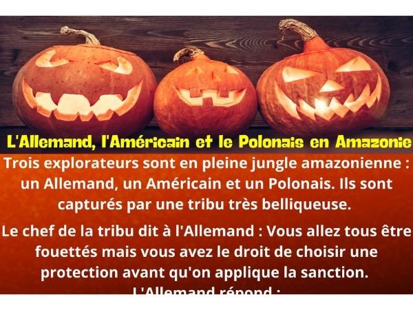 humour, blague tribu, blague torture, blague fouet, blague Allemand, blague américain, blague polonais, blague protection, blague Amazon, blague chef, blague douleur, blague fierté, blague feuille, blague bananier