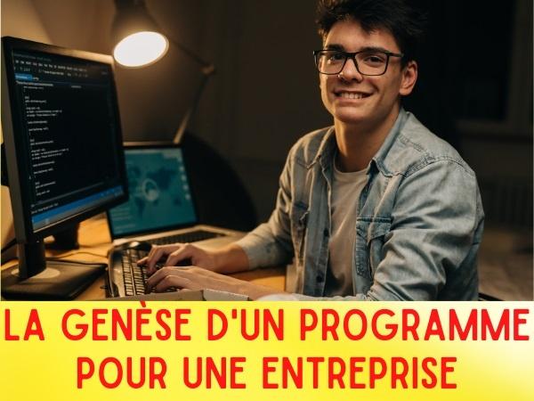 humour, blague genèse, blague programme, blague entreprise, blague informatique, blague informaticien, blague programmeur, blague projet, blague chef de projet, blague organigramme, blague livraison, blague collaborateur, blague logiciel, blague appel d'offres