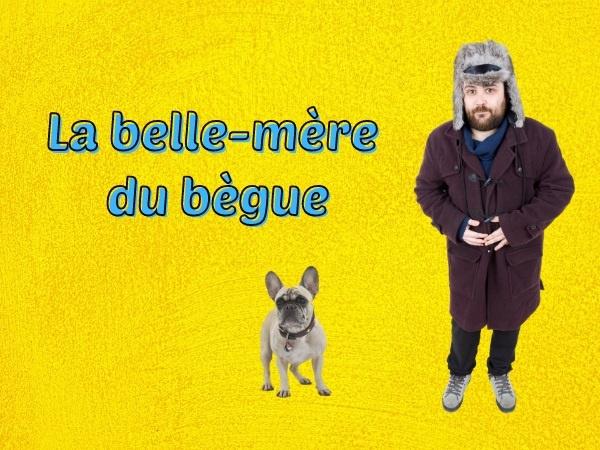 humour, blague chien, blague patte, blague oreille, blague bègue, blague bégaiement, blague cul, blague léchage, blague imitation, blague belle-mère, humour canin