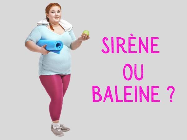 humour, blague sport, blague physique, blague femmes, blague sirène, blague baleine, blague comparaison, blague publicité, blague grossophobie, blague salle de sport