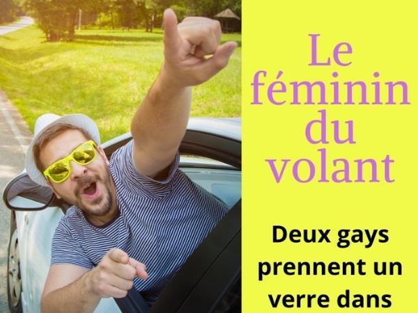 humour, blague sur l'homosexualité, blague sur la conduite, blague sur le côté féminin, blague sur les femmes au volant, blague sur les voitures, blague sur les gays