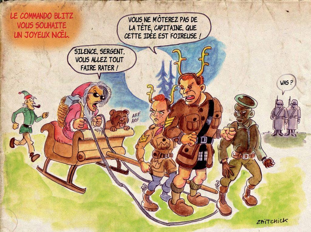 Commando Blitz BD bande dessinée nazi guerre mondiale robots science-fiction parodie Noël