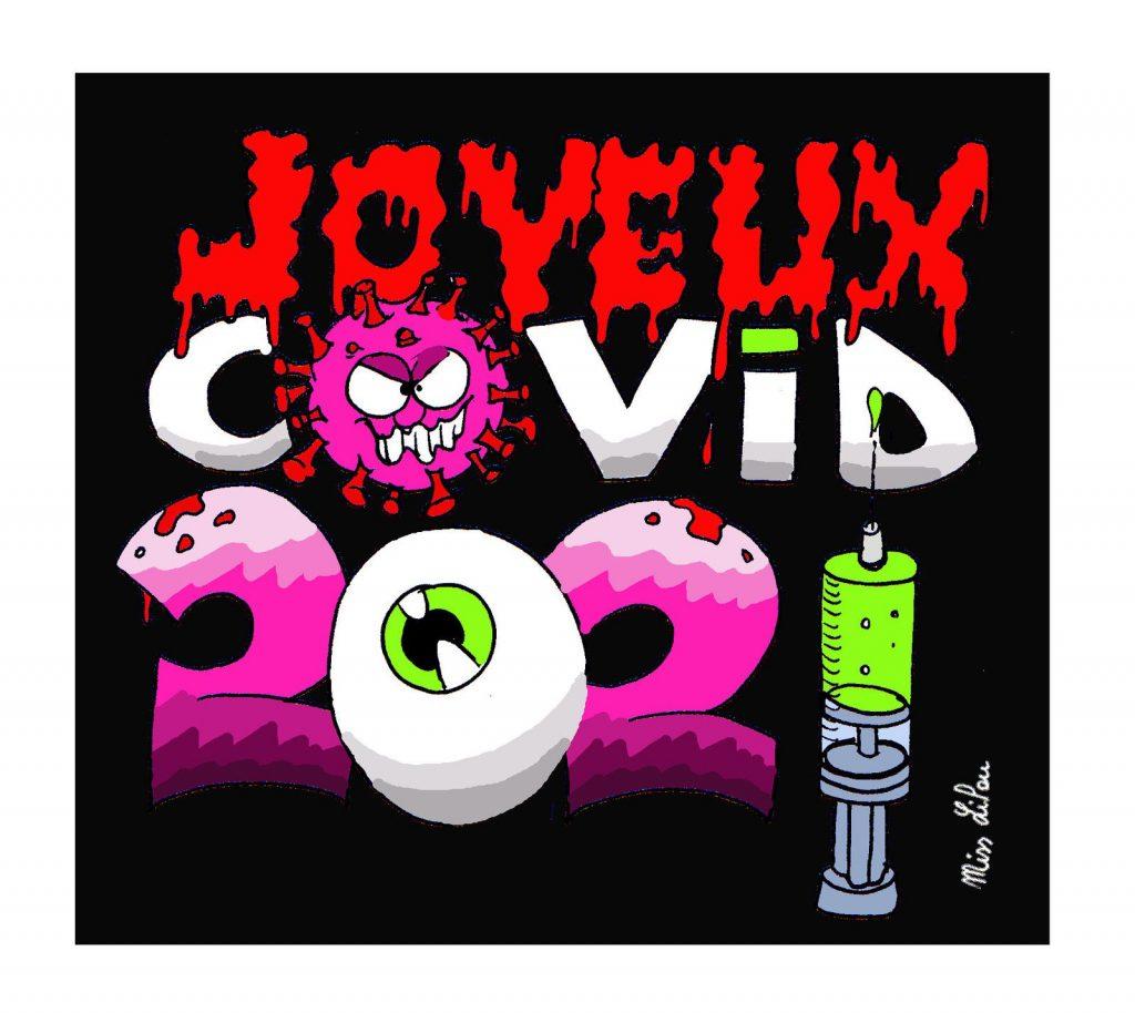 dessin presse humour coronavirus confinement image drôle covid19 nouvel an 2021