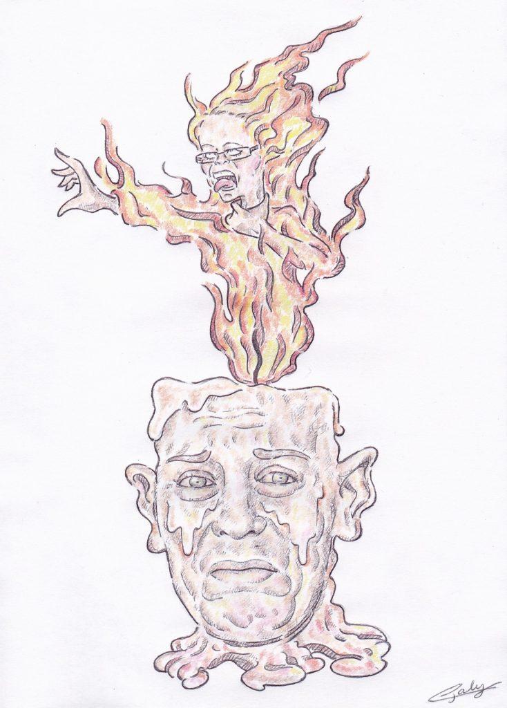 image drôle Affaire Daval dessin humour Jonathan Daval Alexia Fouillot