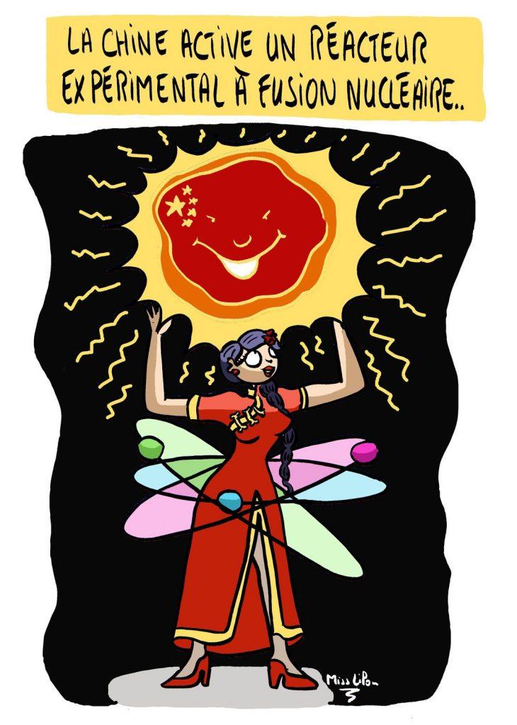 dessin presse humour Chine image drôle fusion nucléaire