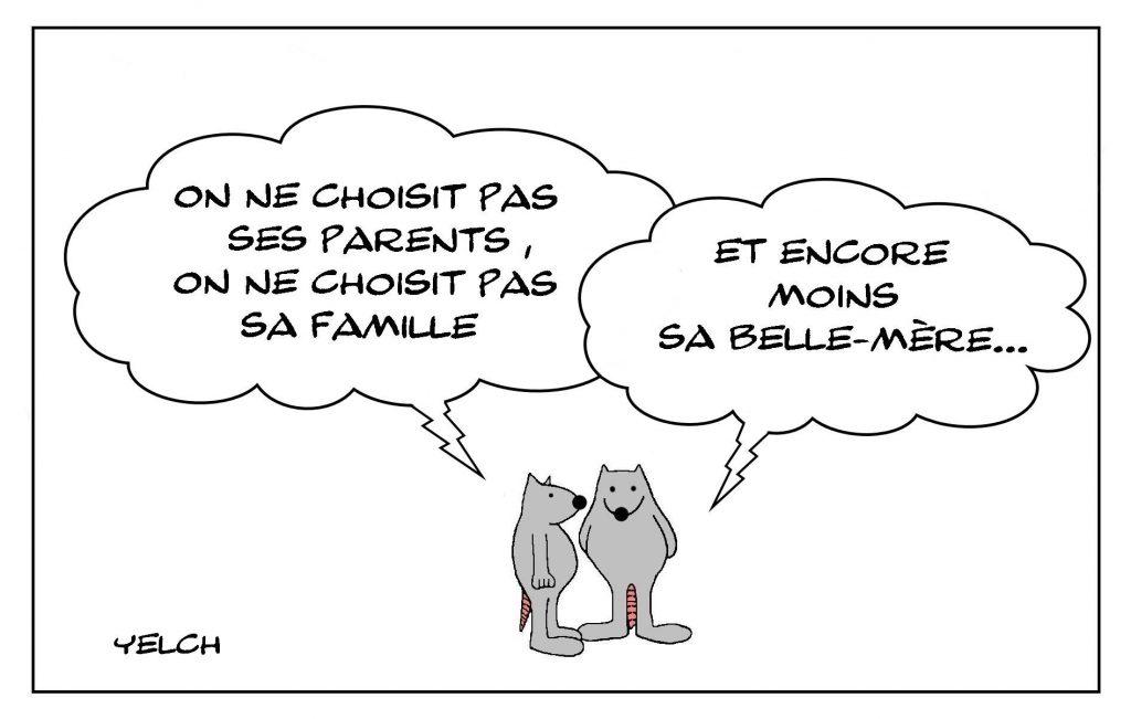 dessins humour choix parents image drôle famille belle-mère