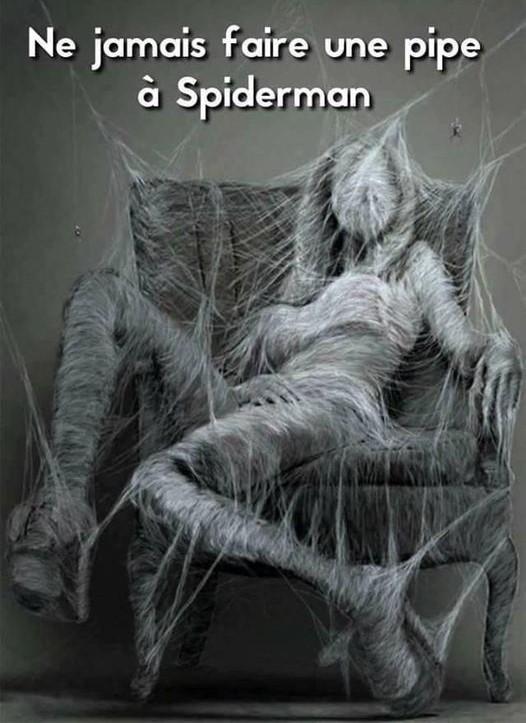 dessin humour fellation image drôle pipe Spider-Man