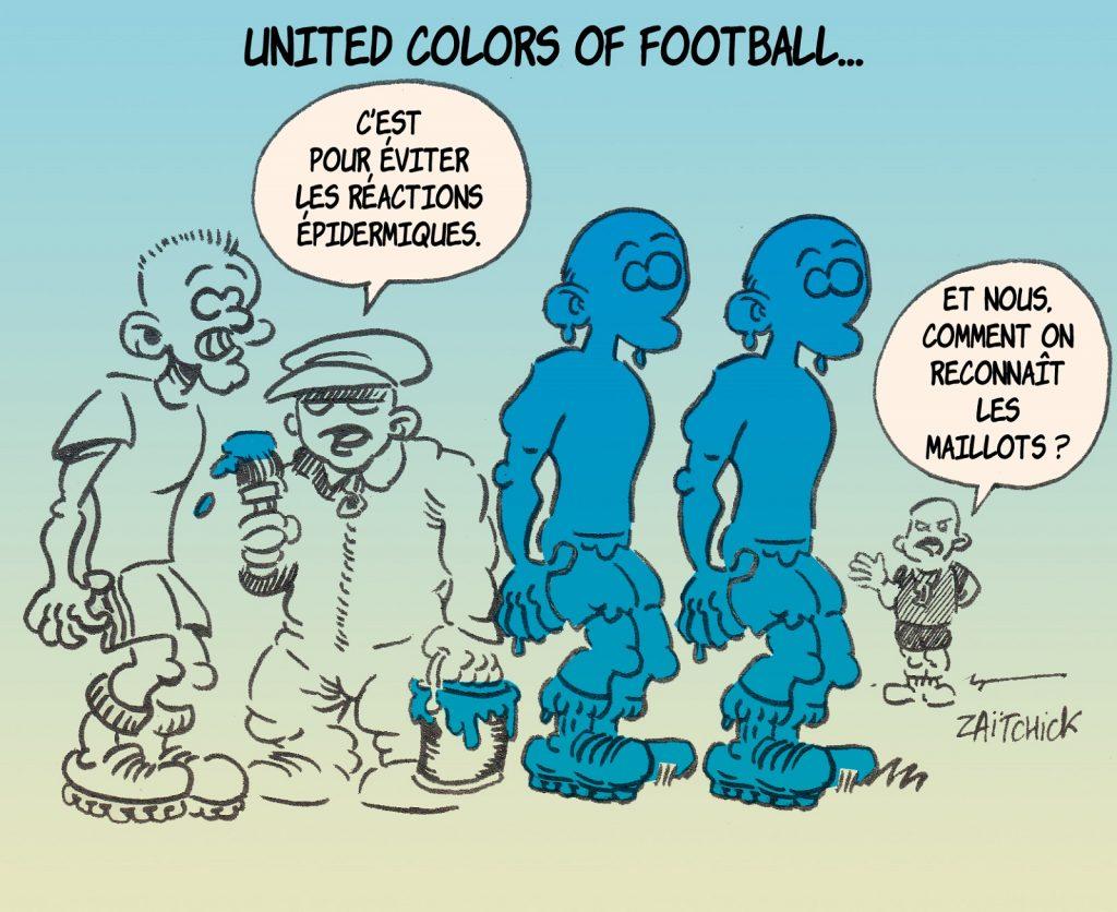 dessin presse humour racisme football image drôle PSG-Basaksehir