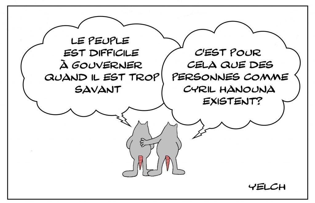 dessins humour peuple savant image drôle Cyril Hanouna