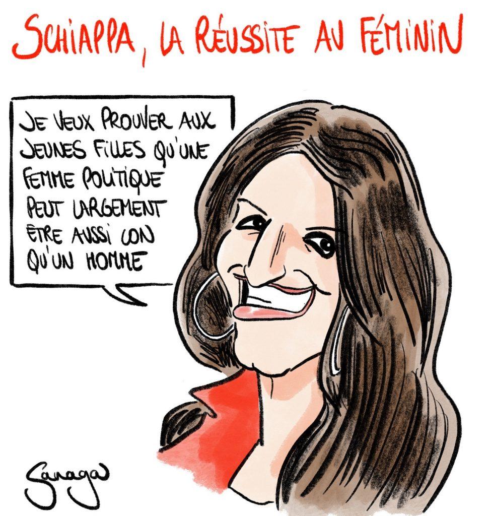 dessin presse humour femme politique image drôle Marlène Schiappa connerie