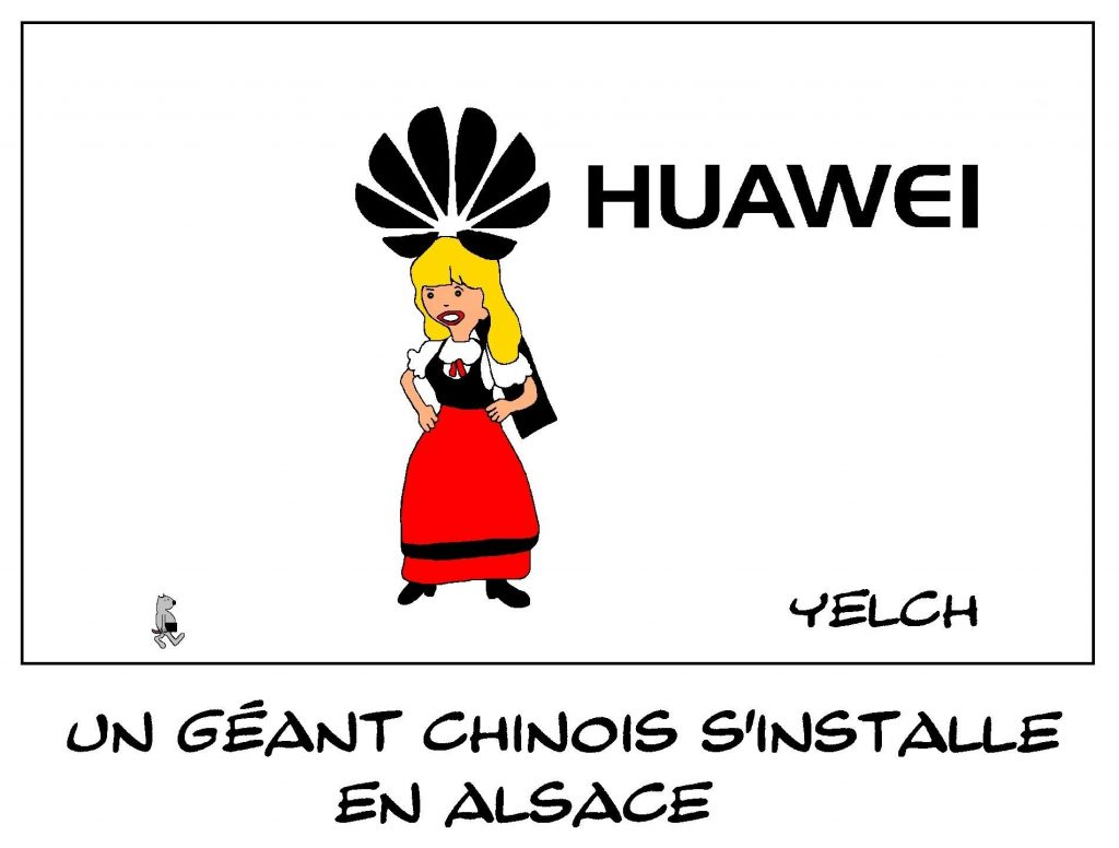 dessins humour Alsace chinois image drôle installation Huawei