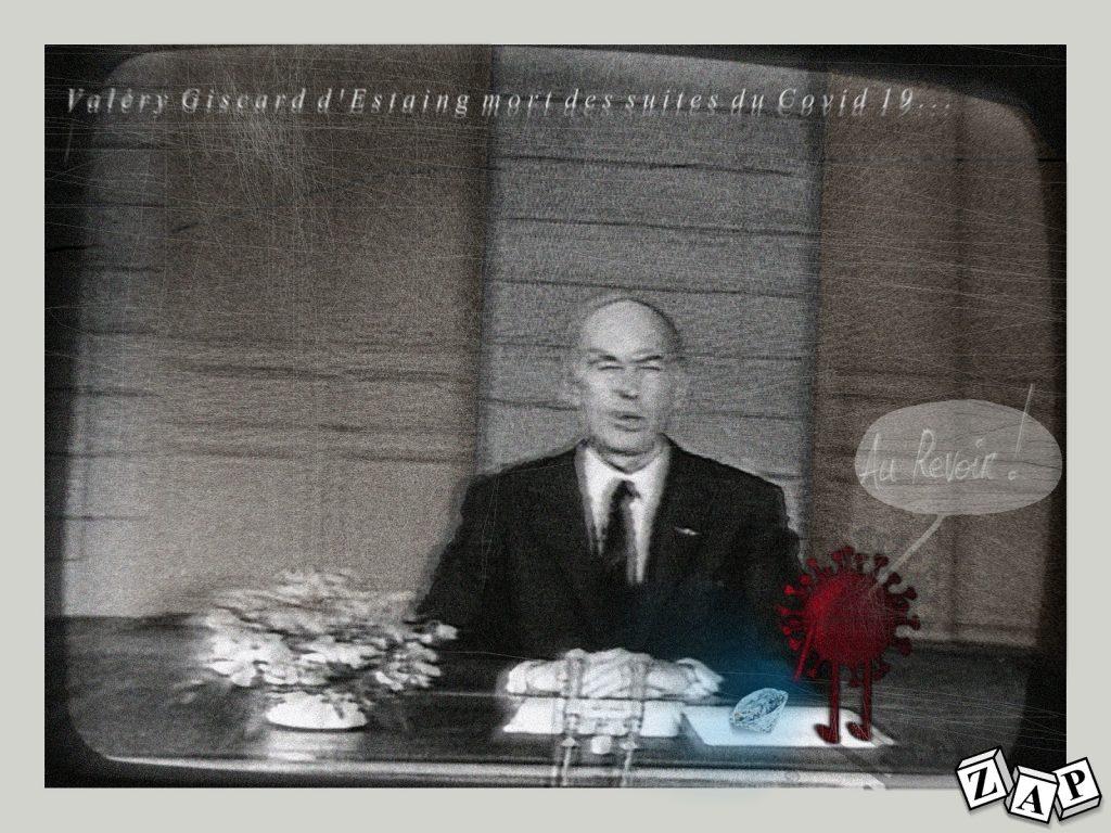dessin presse humour décès de Valéry Giscard d'Estaing image drôle coronavirus