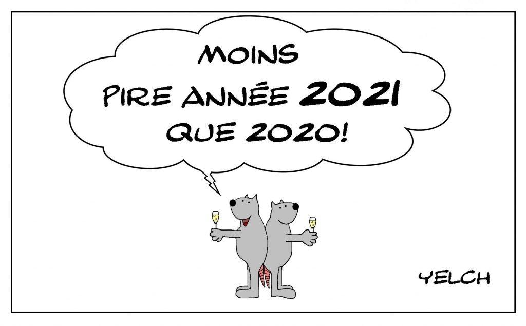 dessins humour bonne année 2021 image drôle nouvelle année 2021