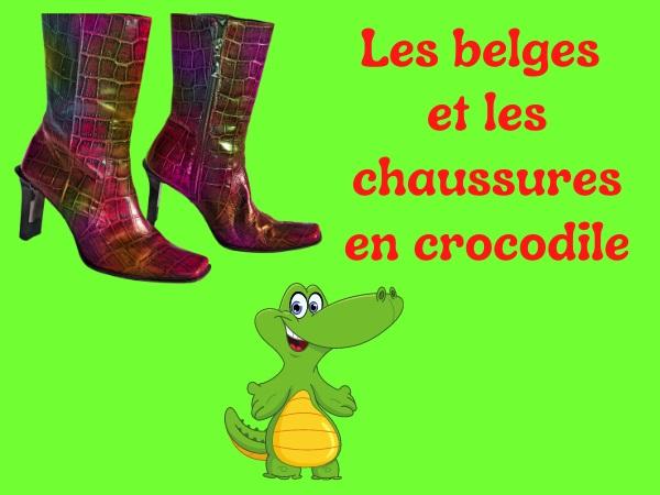 humour, blague belges, blague Paris, blague chaussures, blague mode, blague crocodiles, blague chasse, blague Afrique, blague chaussures en croco, blague capture, humour reptilien