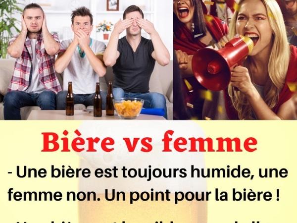 humour, blague sur les bières, blague sur les comparaisons, blague sur les femmes, blague sur les matchs, blague sur les avantages, blague sur les inconvénients