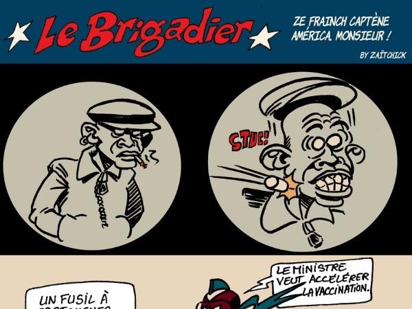 image drôle Le Brigadier dessin humour coronavirus covid-19 vaccination vaccin anti-covid