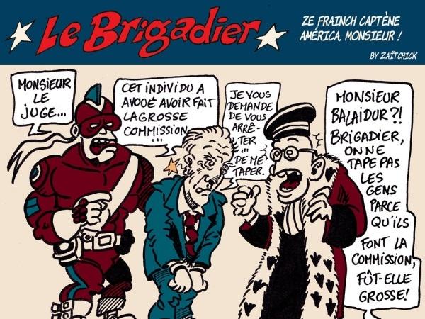 image drôle Le Brigadier dessin humour Édouard Balladur affaire Karachi commission
