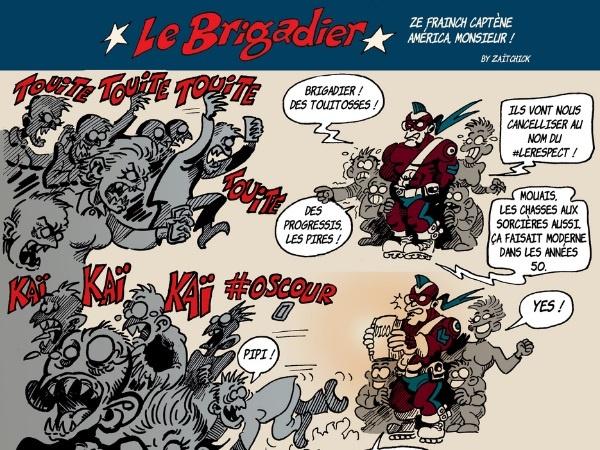 image drôle Le Brigadier dessin humour réseaux sociaux Twitter inculture progressisme