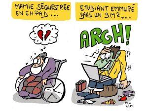 dessin presse humour coronavirus covid-19 image drôle confinement maltraitance État