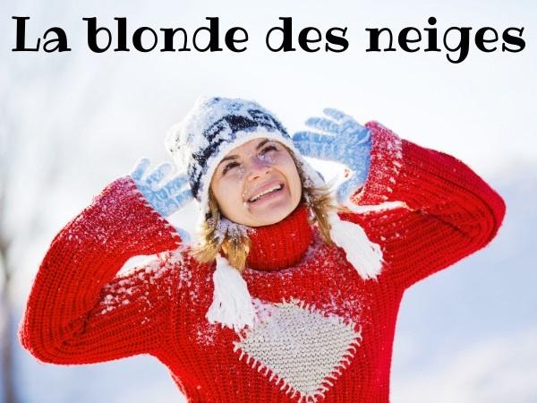 humour, blague blondes, blague hiver, blague neige, blague voiture, blague garage, blague stationnement, blague radio, blague déneigement